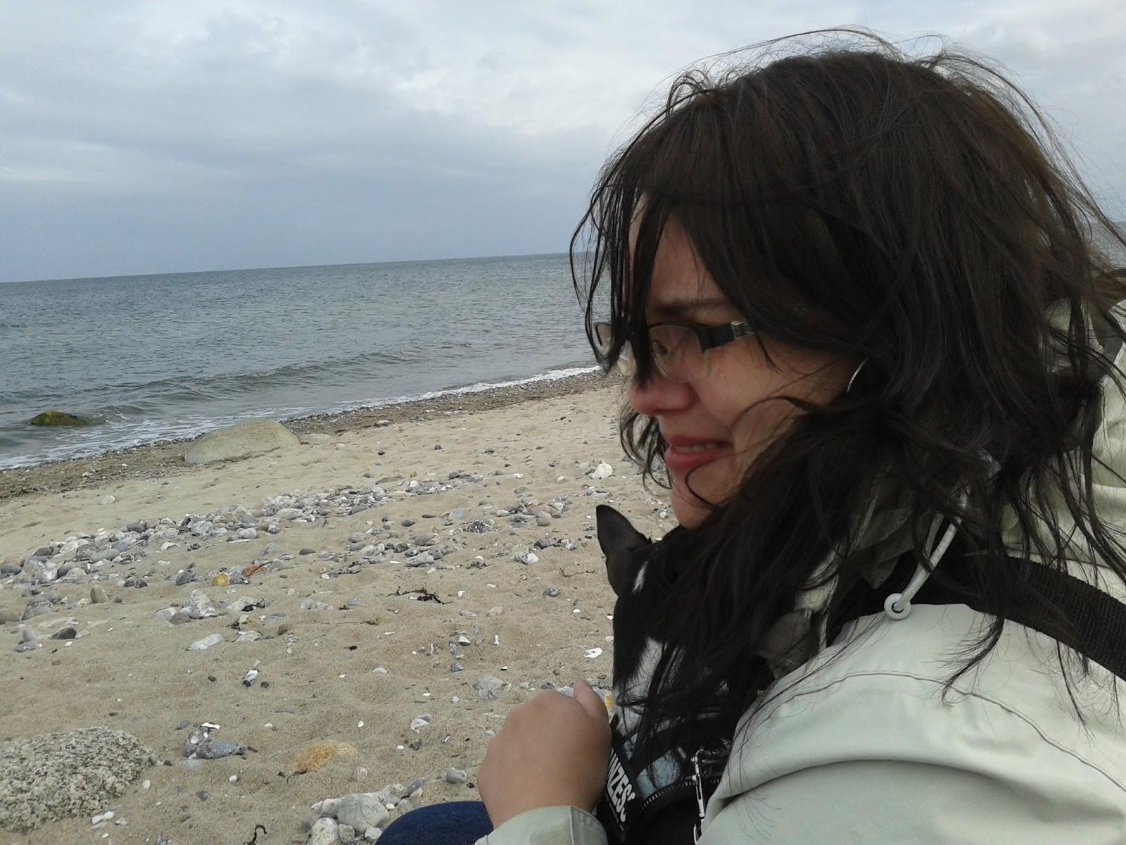 Die Bloggerin am Meer