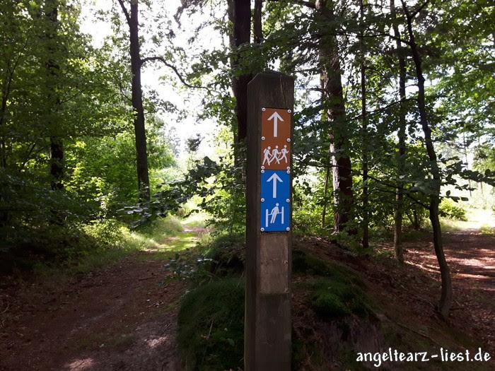 Beschilderung im Naturpark Aukrug - Schleswig-Holstein