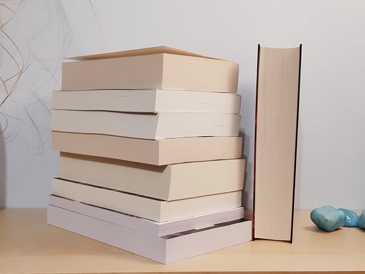 leere Buchschnitte