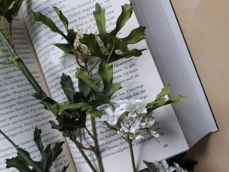 Buch und Blumen