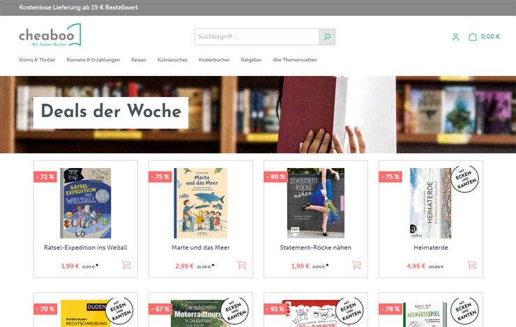 günstige Bücher shoppen bei cheaboo